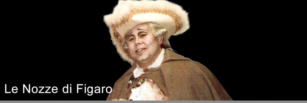 Derek Anthony sings the role of  Bartolo in Le Nozze di Figaro